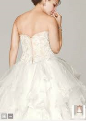 Oleg Cassini 'Strapless Ruffled Skirt' - Oleg Cassini - Nearly Newlywed Bridal Boutique - 3