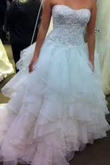 Oleg Cassini 'Strapless Ruffled Skirt' - Oleg Cassini - Nearly Newlywed Bridal Boutique - 2