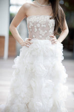 Load image into Gallery viewer, Valentino Blush Rosette Gown - Valentino - Nearly Newlywed Bridal Boutique - 3