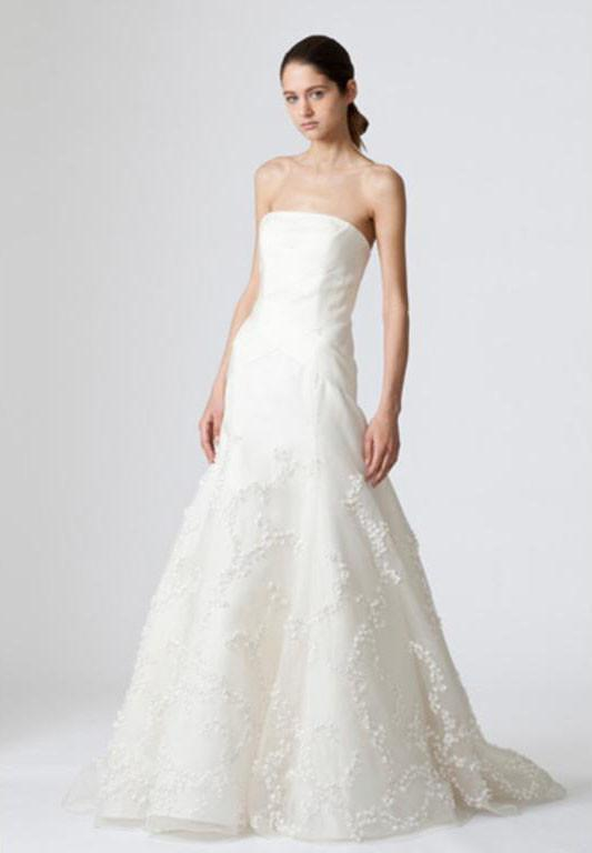 Vera Wang 'Devon' Silk Organza Gown - Vera Wang - Nearly Newlywed Bridal Boutique - 1