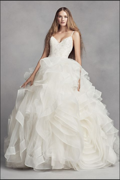 d92a2755ca Vera Wang White  Organza Rosette  size 14 used wedding dress ...