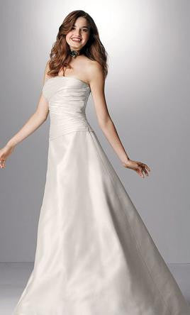 Watters & Watters Silk Pleated Ivory Wedding Dress - Watters - Nearly Newlywed Bridal Boutique - 1