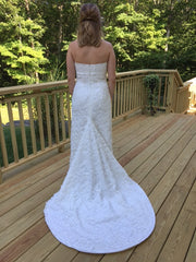 Augusta Jones 'Strapless' size 8 used wedding dress back view on bride