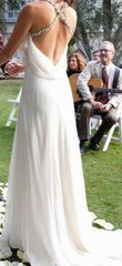 Jenny Packham 'Laurel' size 2 used wedding dress back view on bride