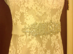Maggie Sottero 'Londyn' size 4 used wedding dress front view of belt