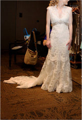 Allure Bridals '2619' size 2 used wedding dress front view on bride