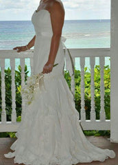 Eden Bridal Ruffled Gown - eden bridal - Nearly Newlywed Bridal Boutique - 1