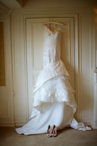 Pronovias 'Diagonal' Mermaid with Petticoat Inset - Pronovias - Nearly Newlywed Bridal Boutique - 1