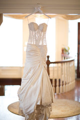 Pnina Tornai '6' size 2 used wedding dress front view on hanger