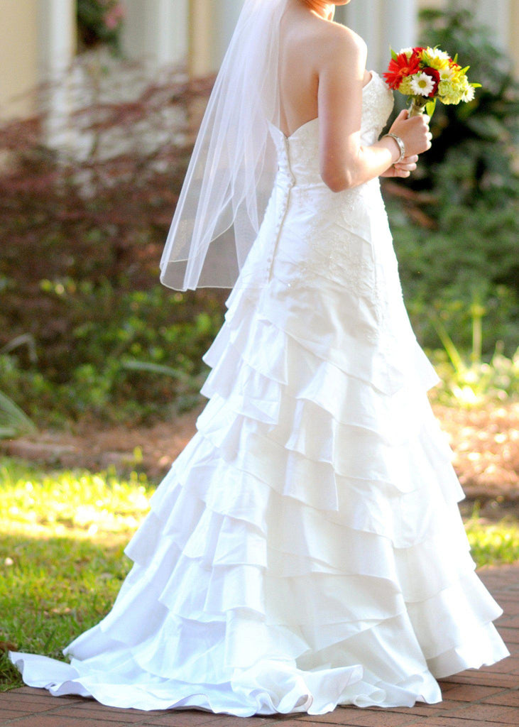 Allure Romance Fit and Flare Strapless Wedding Gown - Allure - Nearly Newlywed Bridal Boutique - 2