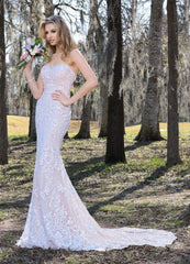 Ashley and Justin '10413' size 8 used wedding dress front view on model