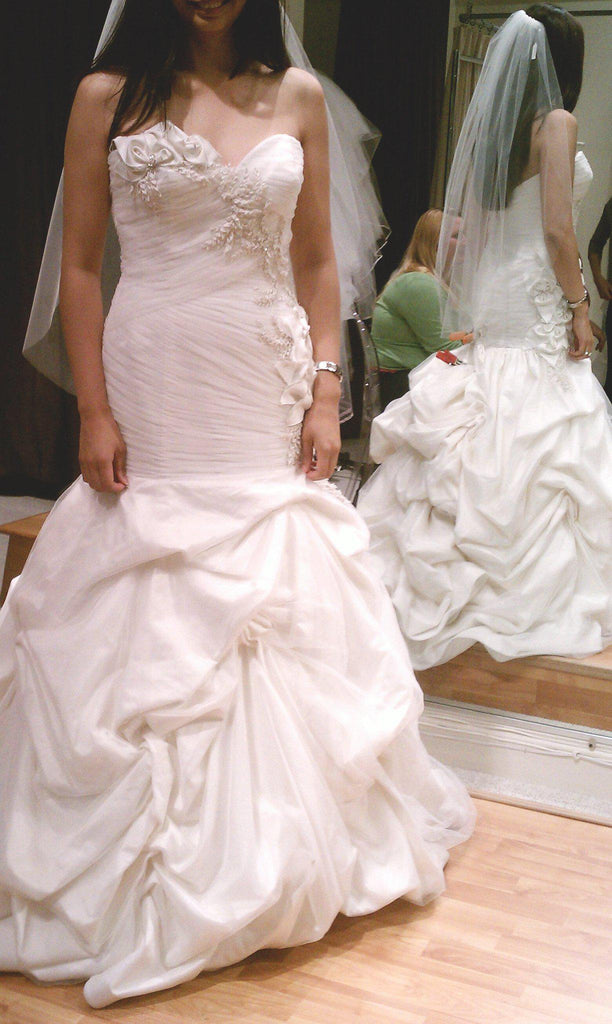 Anne Barge 'Avery' Silk Taffeta Ball Gown - Anne Barge - Nearly Newlywed Bridal Boutique - 2