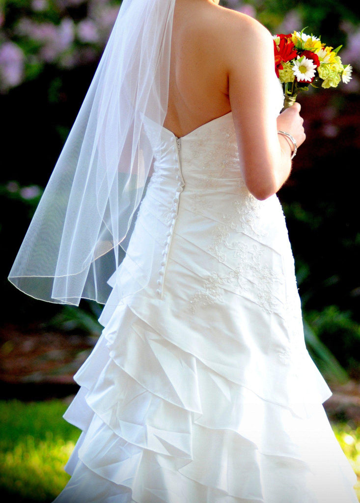 Allure Romance Fit and Flare Strapless Wedding Gown - Allure - Nearly Newlywed Bridal Boutique - 5
