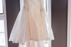 Amy Kuschel 'Monroe' size 0 new wedding dress view of train