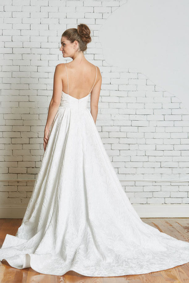 Rebecca Schoneveld 'The Whitney' size 6 used wedding dress back view on model