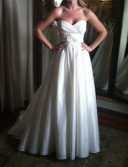 Wtoo Silk Taffeta Mimi Strapless Wedding Dress - Wtoo - Nearly Newlywed Bridal Boutique - 5