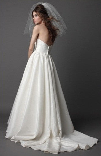 Wtoo Silk Taffeta Mimi Strapless Wedding Dress - Wtoo - Nearly Newlywed Bridal Boutique - 2