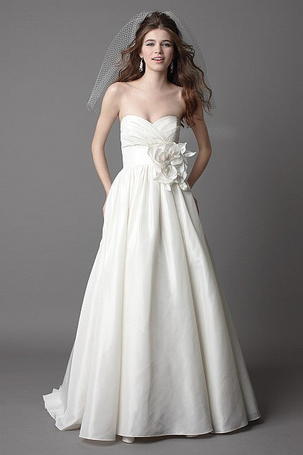 Wtoo Silk Taffeta Mimi Strapless Wedding Dress - Wtoo - Nearly Newlywed Bridal Boutique - 1