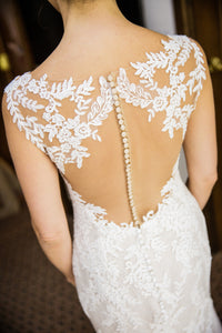 Pronovias 'Orlara' size 2 used wedding dress back view close up