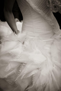 Vera Wang 'June' Chantilly Lace Mermaid Wedding Dress - Vera Wang - Nearly Newlywed Bridal Boutique - 3