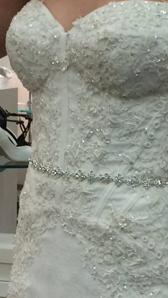 David's Bridal 'Spaghetti Strap' - David's Bridal - Nearly Newlywed Bridal Boutique - 4