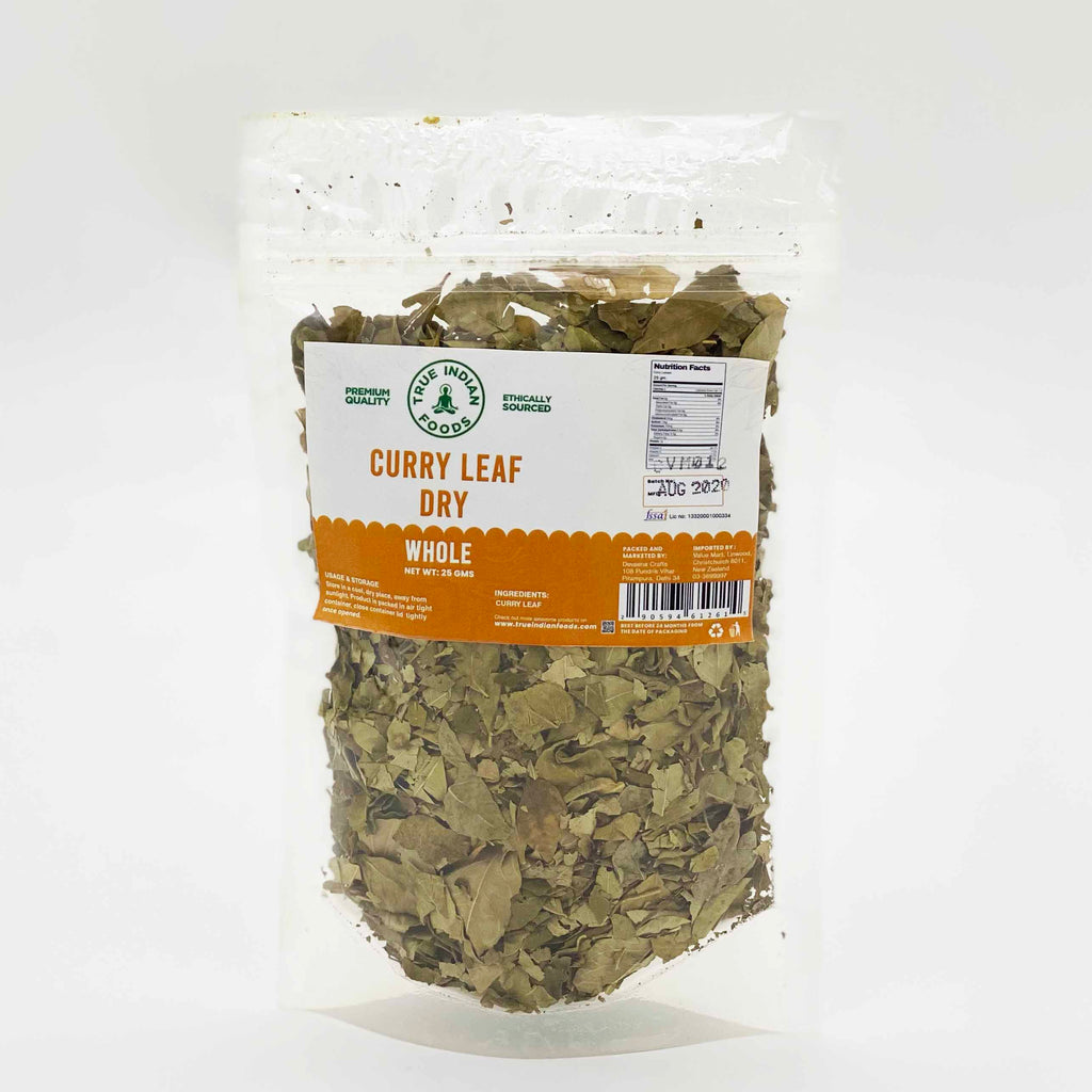 Indian grocery online New Zealand Christchurch, true indian foods dry curry leaf 25g