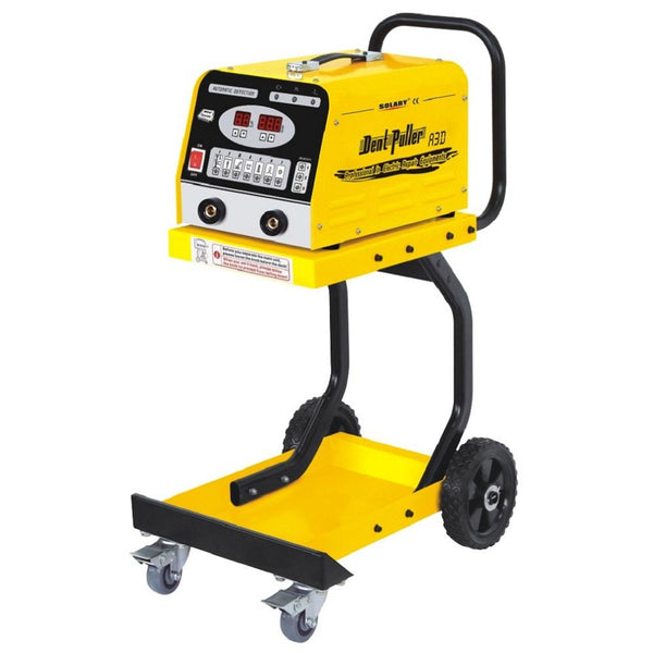 Solary Electricals Hand-Held Digital Dent Puller with Trolley - 1300A, Model A3D - Auto Body Collision Repair Welding Products