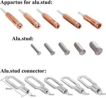 Solary Electricals SA01 Capacitor Discharge Aluminum Weld Stud Set