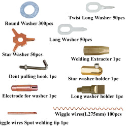 Solary Electricals SW01 Car Body Repair Tool Kit Straight Pull Rings Pads Chuck Stud Spot Welding Kit