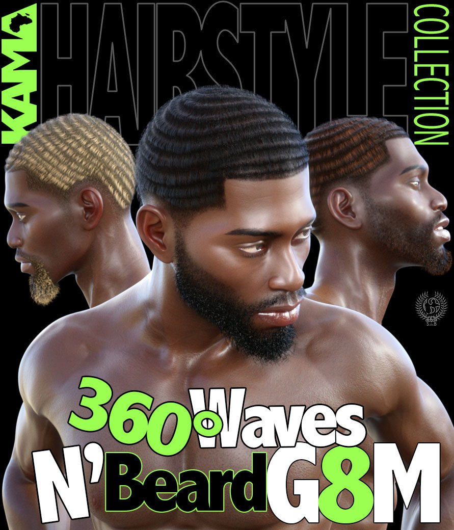 360° Waves & Beard G8M - www.SdeBStore.com