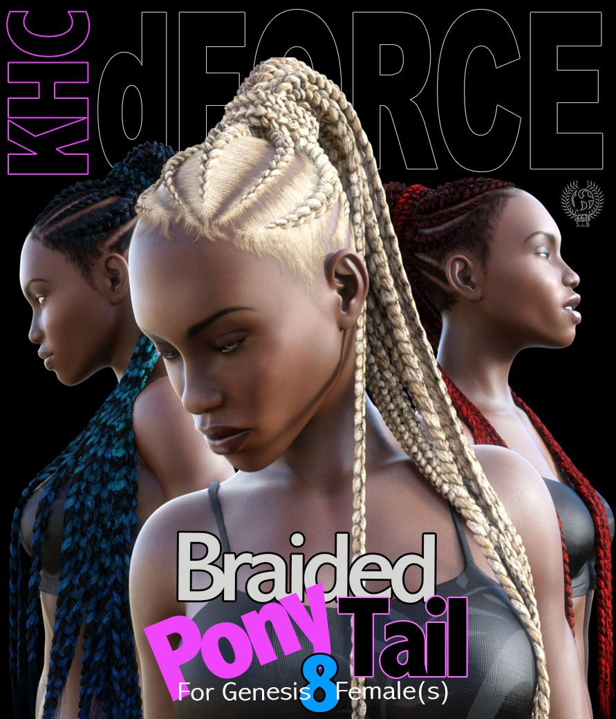 RD - KHC Braided Pony Tail For Genesis 8 Females