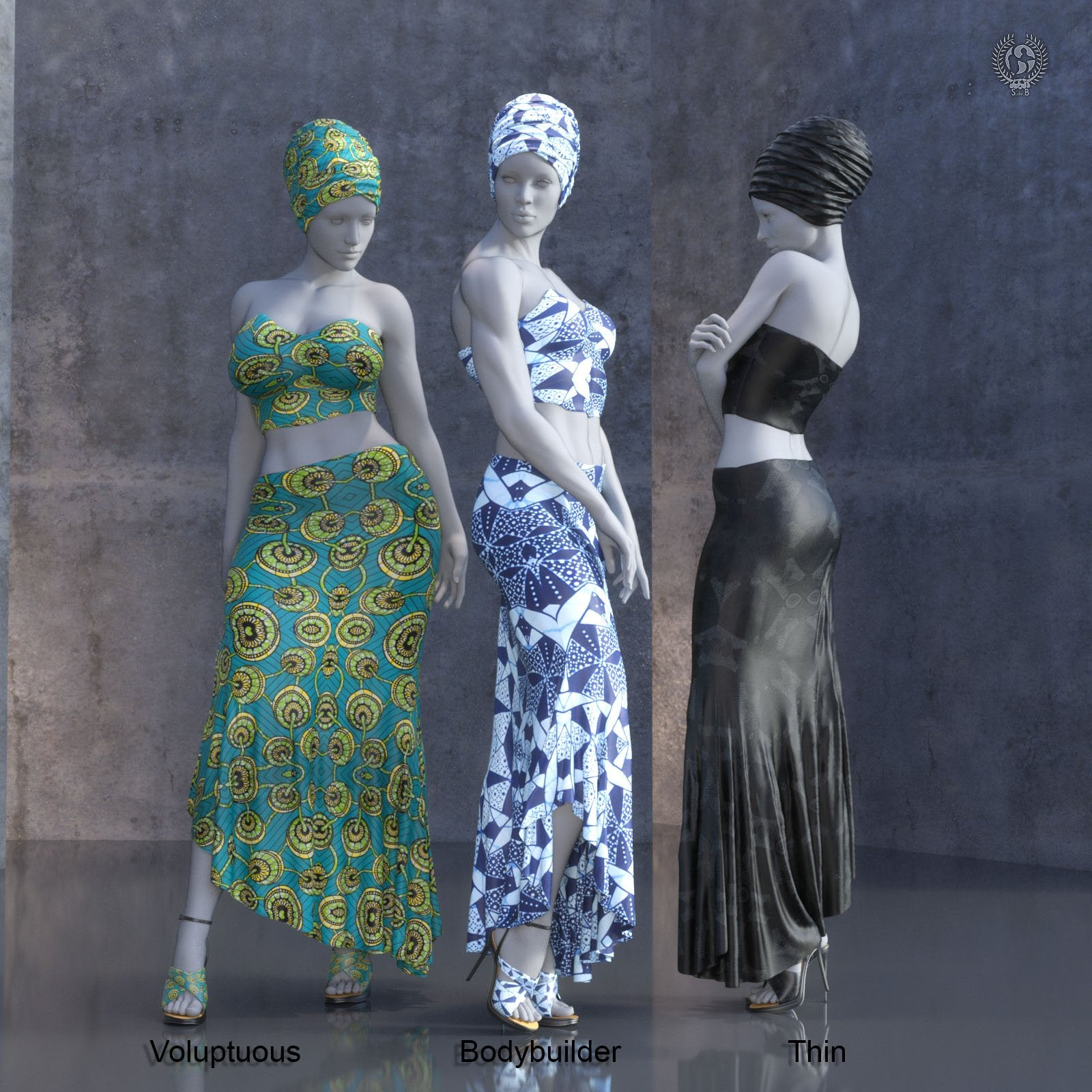 RD - dForce-Badia Skirt Pack For Genesis 8 Females - www.SdeBStore.com