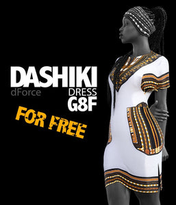 Dashiki Dress G8F_FREE - www.SdeBStore.com