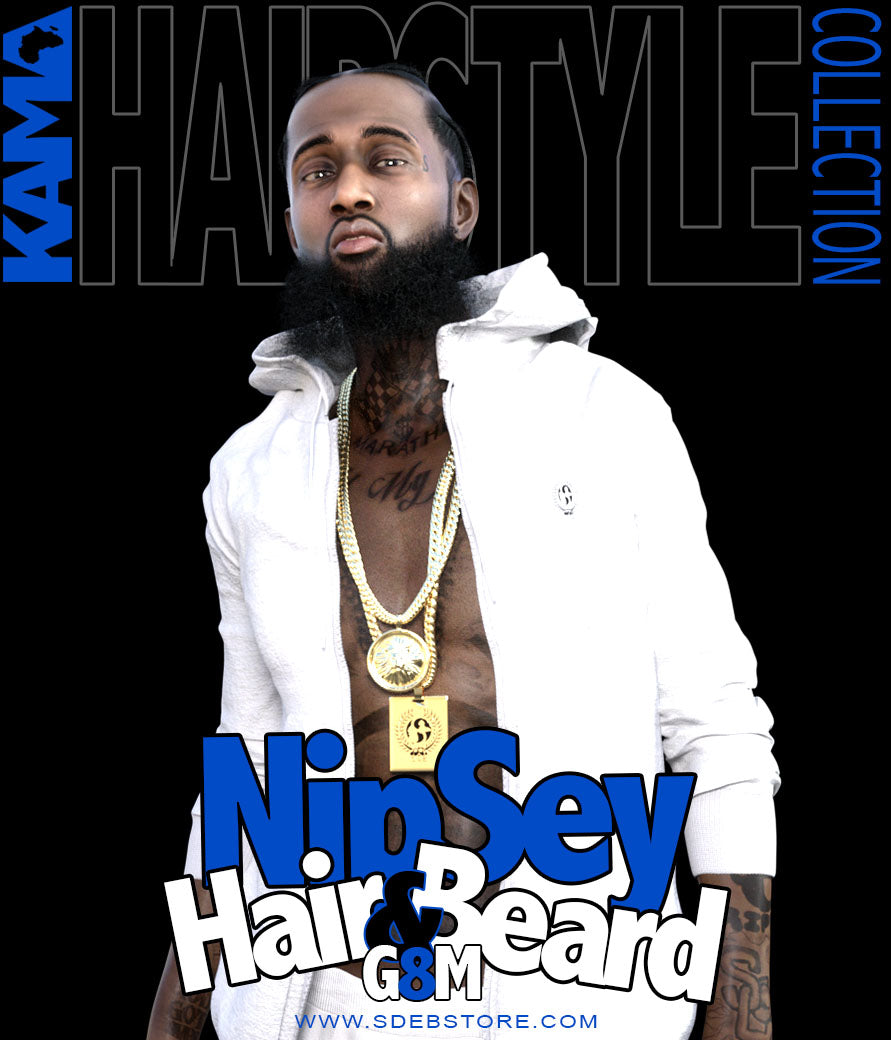 Nipsey Hair And Beard G8M - www.SdeBStore.com