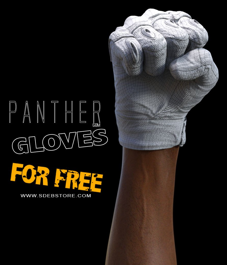 Panther Gloves G8M - FREE - www.SdeBStore.com
