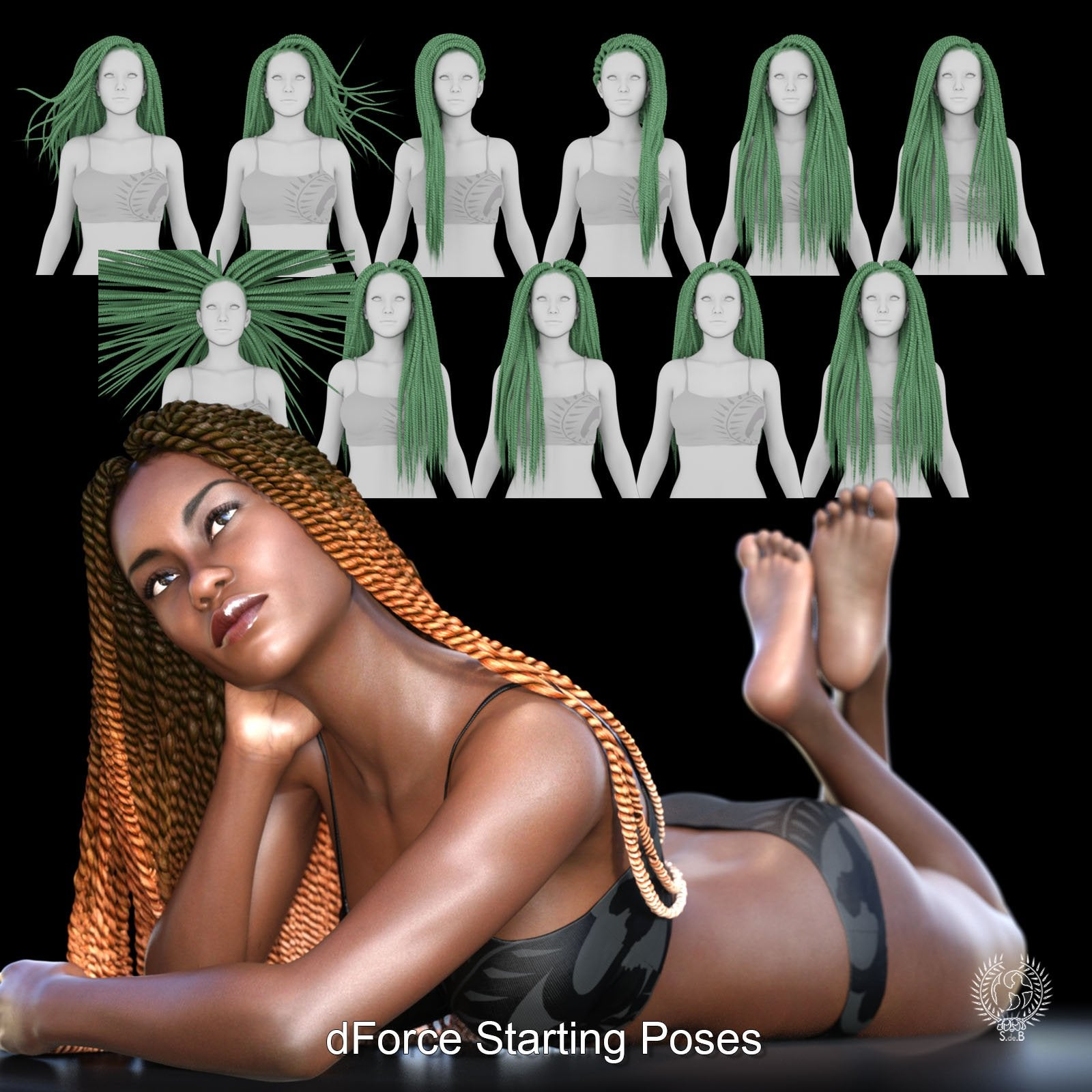 RD - Senegalese Twist Hair For Genesis 8 Females - www.SdeBStore.com