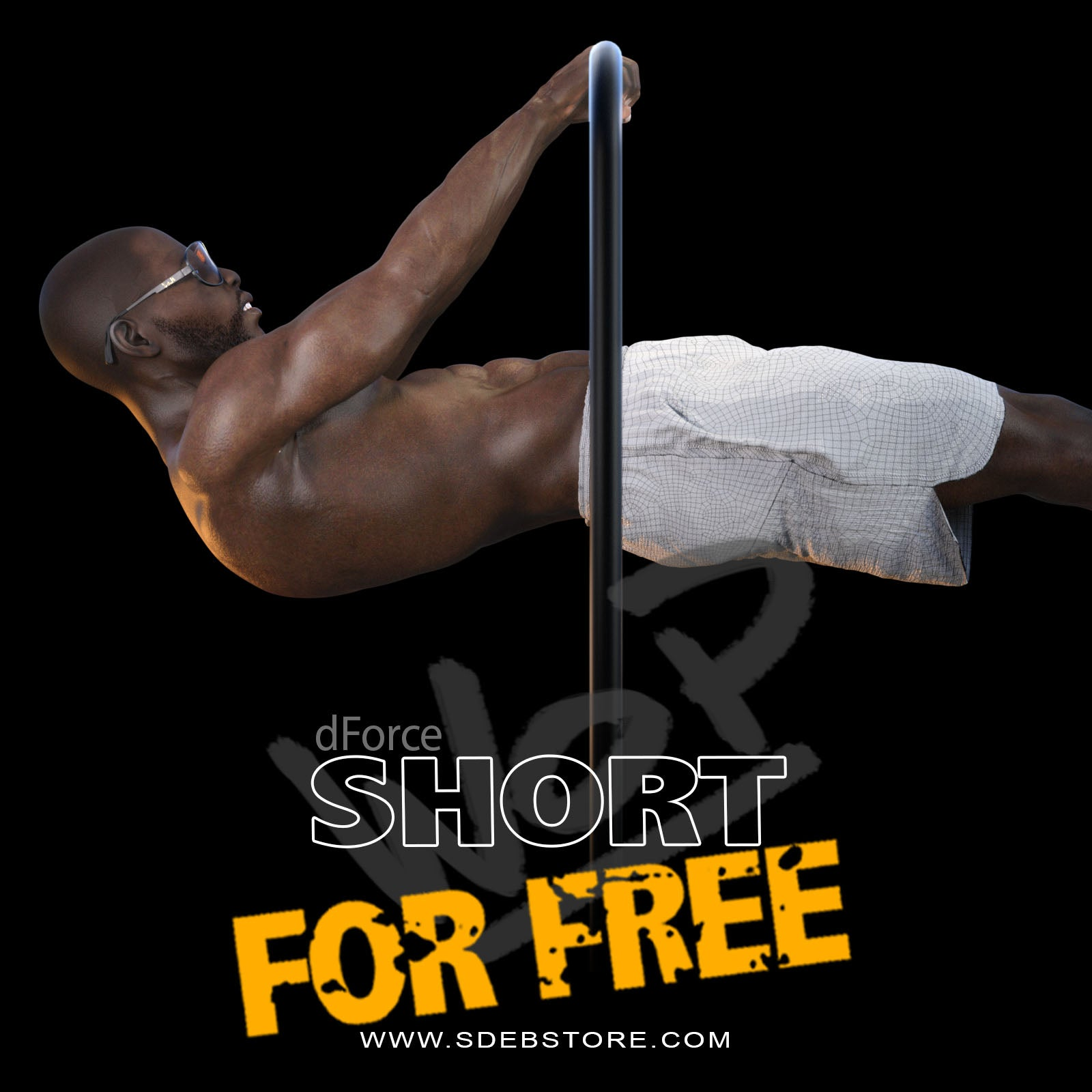 WorkOut Short G8M - FREE - www.SdeBStore.com