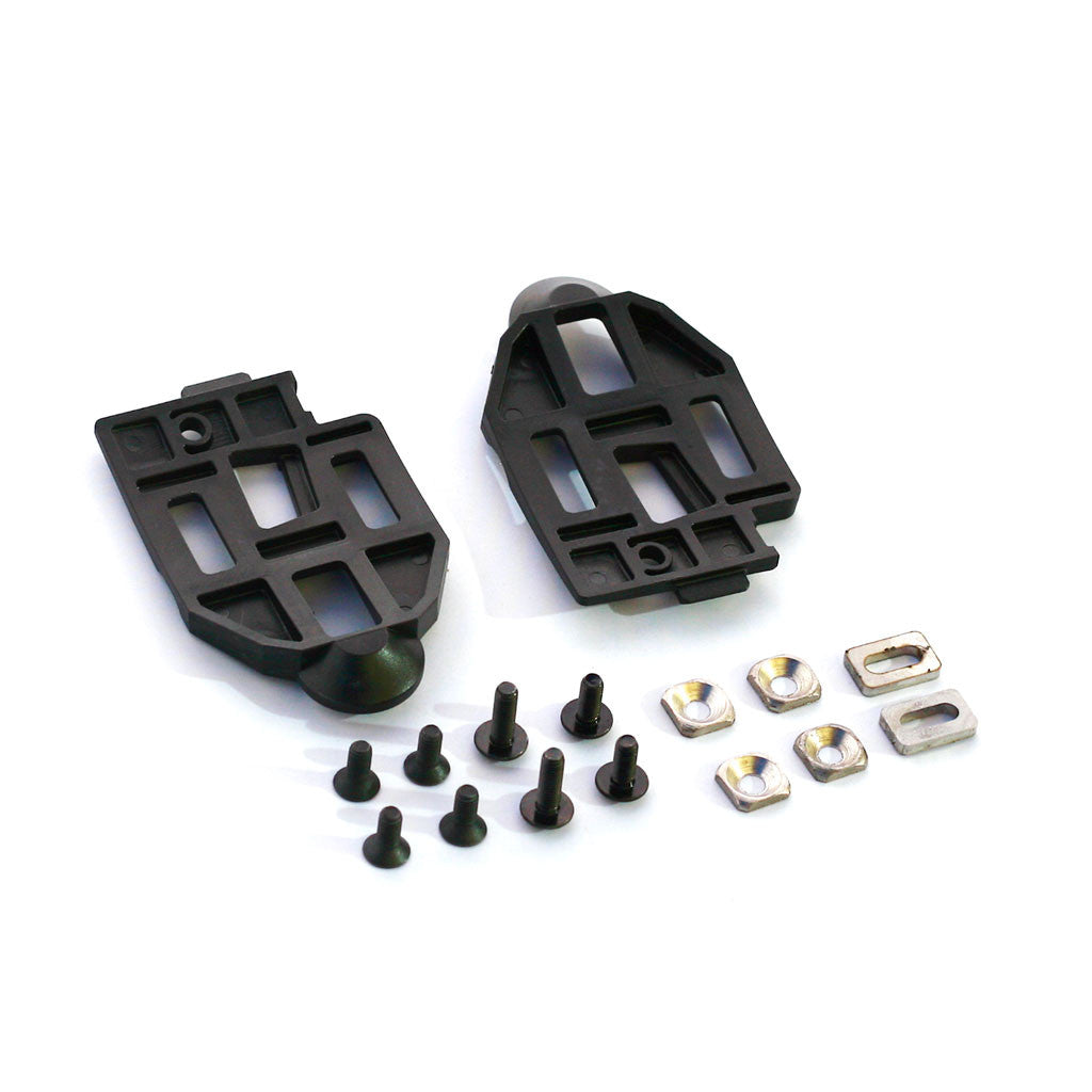 keywin carbon pedal cleat set composite