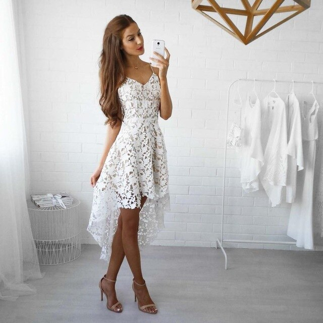 Elegant Lace Hollow Out Dress