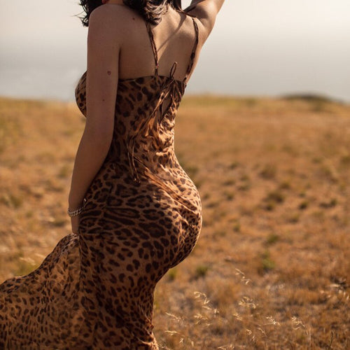 Leopard Beach Dress Cover Up