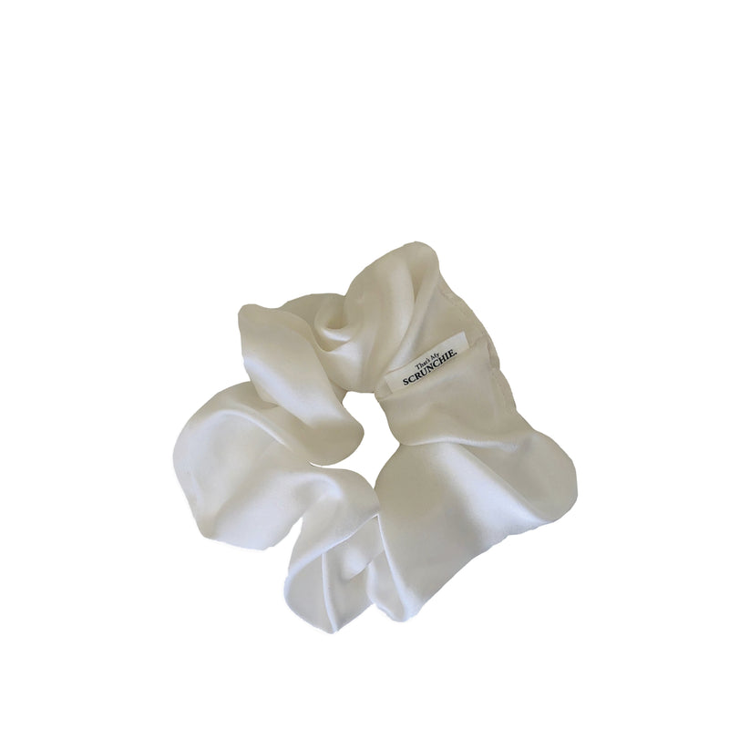 That's My Scrunchie - White Silk