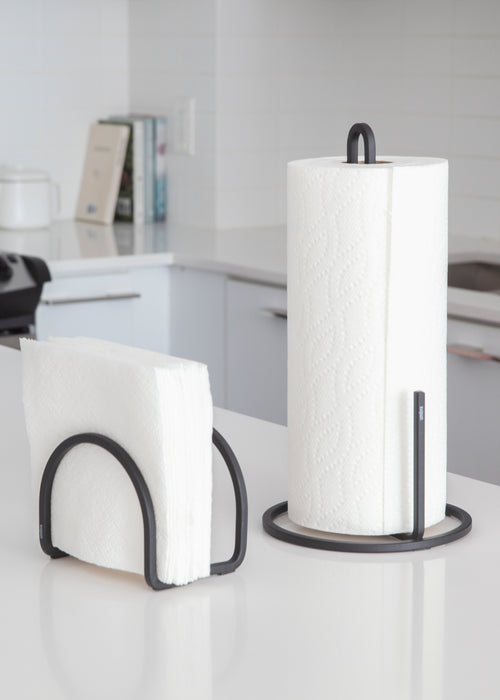 Countertop Paper Towel Holders | color: Black | Hover