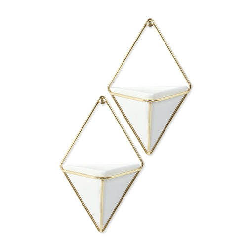 Wall Planters | color: White-Brass