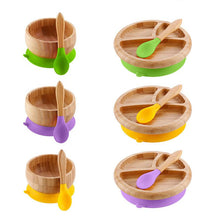 Load image into Gallery viewer, Wooden Mealtime Station wih Suction Cup for Kids