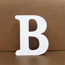Load image into Gallery viewer, 1pc White Wooden Letter English Alphabet