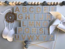 Load image into Gallery viewer, Wooden Alphabet Letter Name Blocks for Toddlers