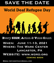 Load image into Gallery viewer, WORLD DEAF REFUGEE DAY CANDLE