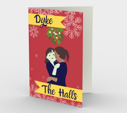 D*ke the Halls Christmas Card - Big Gay Store