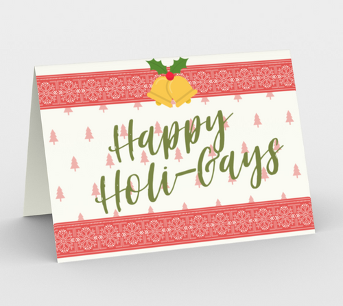 Happy Holi-Gays Christmas Card - Big Gay Store
