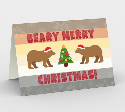 Beary Merry Christmas Card - Big Gay Store